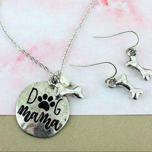 "Jewelry - Burnished Silver ""Dog Mama"" Set!"